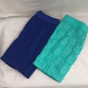 Lot of 2 Aeropostale slim skirts